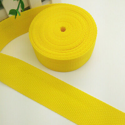 New Hot 5 Yards Length 1 Inch (25mm)Width Sewing Nylon Webbing Strapping Yellow