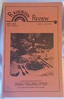 Rainbow Review Glass Journal Magazine April 1974 Volume 4 Booklet Made in USA