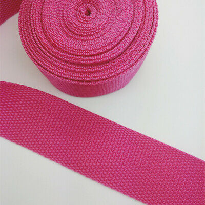 New 5 Yards Length 1 Inch (25mm) Width Sewing Nylon Webbing Strapping Rose red