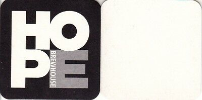 Hope Brewhouse Square Coaster - Beer Mat
