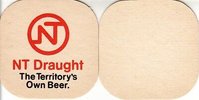 NT Draught - The Territorys Own Beer Square Coaster - Beer Mat