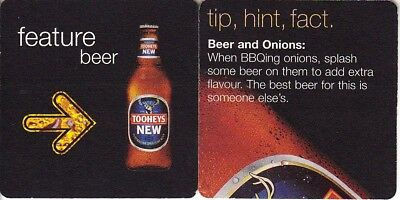 Tooheys New - Beer and Onions Square Coaster Beer Mat
