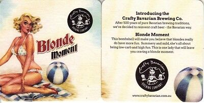 Crafty Bavarian Brewing Company - Blonde Moment Ver 2 Square Coaster- Beer Mat