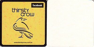 Thirsty Crow Brewery (Small) Square Coaster - Beer Mat