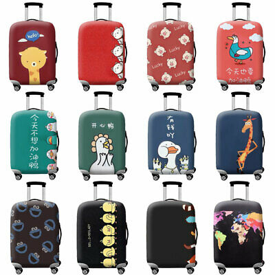 Printed Protective Suitcase Cover Elastic Thicken Luggage Protector 18 -32 inch
