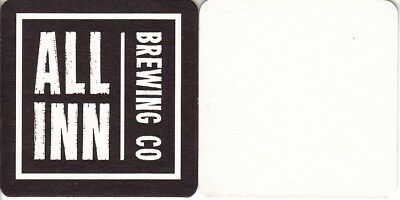 All Inn Brewing Co Square Beer Coaster - Beer Mat