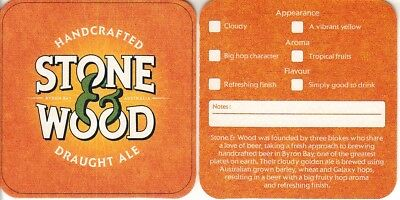 Stone & Wood Brewing Co - Draught Ale Square Coaster Beer Mat
