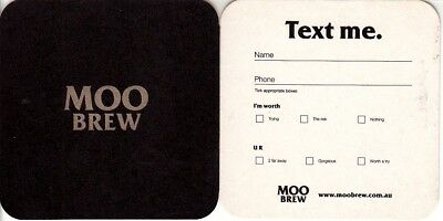 Moo Brew - Text me Square Coaster Beer Mat