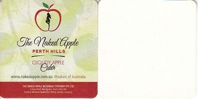 The Naked Apple Cloudy Apple Cider Square Coaster - Beer Mat