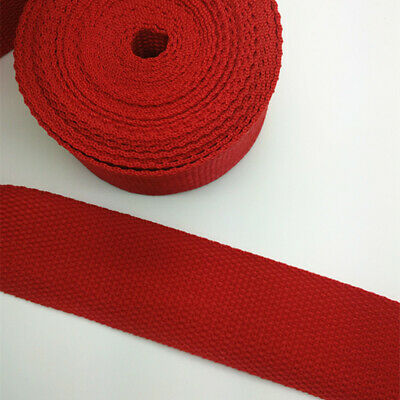 New Hot 5 Yards Length 1 Inch (25mm) Width Sewing Nylon Webbing Strapping red