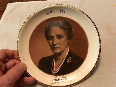 Princess Martha Of Norway Vintage Plate, Spouse Of King Olav