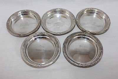 Vintage Birks Sterling Nut Dishes Hotel Souvenirs Engraved - Quebec, Mexico City