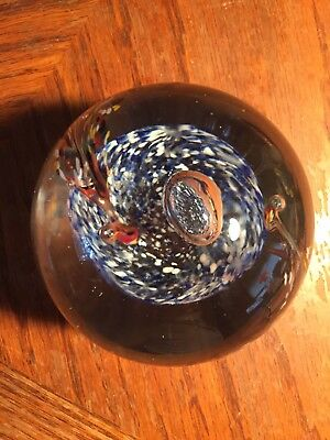 Vintage Hand Blown Art Glass Paperweight
