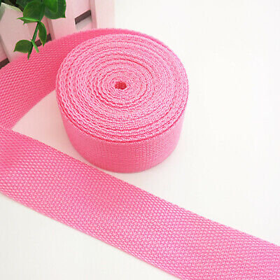 New Hot 5 Yards Length 1 Inch (25mm)Width Sewing Nylon Webbing Strapping Pink