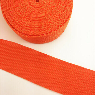 New 5 Yards Length 1 Inch (25mm) Width Sewing Nylon Webbing Strapping Orange