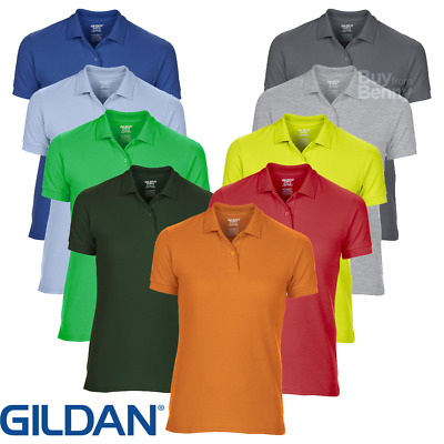 Gildan LADIES POLO SHIRTS DRYBLEND WICKING SPORTS TENNIS GOLF TOP COLLAR S-2XL