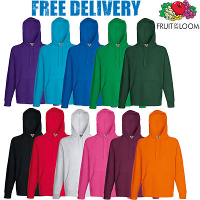 Fruit Of The Loom MEN'S JUMPER HOODED SWEATSHIRT HOODIE PLAIN SIZES ALL COLOURS