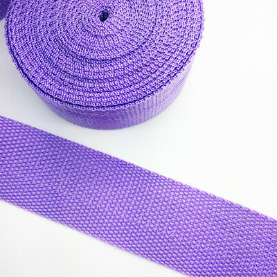 New 5Yards Length 1 Inch (25mm)Width Sewing Nylon Webbing Strapping Light purple