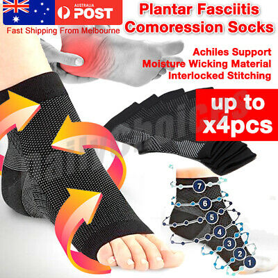 Plantar Fasciitis Compression Socks Foot Sleeve Ankle Support Brace Achy Heel
