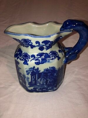 Vintage Victoriaware ironstone flo blue water pitcher marked