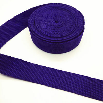 New 5 Yards Length 1 Inch (25mm)Width Sewing Nylon Webbing Strapping Deep purple