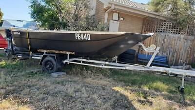 4.3m custom made runabout boat with trailer and outboard motor
