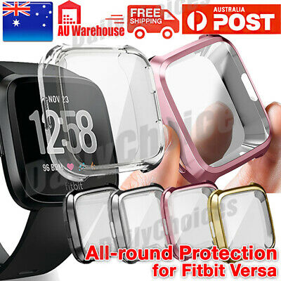 For Fitbit Versa Silicone TPU Shell Case Screen Protector Frame Cover hot new