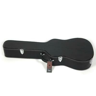 """39"""" Artificial Leather Guitar Hard Case Hard Shell Bag Durable Sturdy Black"""