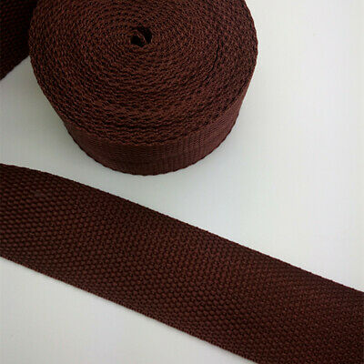 New Hot 5 Yards Length 1 Inch (25mm) Width Sewing Nylon Webbing Strapping brown
