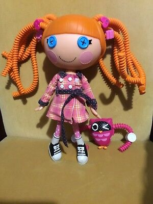 Lalaloopsy Bea Spells A Lot Doll & Pet Owl Orig. Clothing Orange Silly Hair