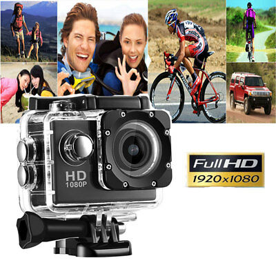 2019 Action Camera Sport Waterproof Ultra Hd 1080P Mini Gopro Style Noir Fra