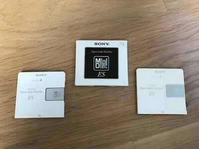 3 Minidisc Sony ES High Quality Digital audio minidisc (1 neuf)