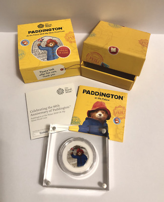 NEW 2018 Royal Mint Paddington at The Palace Silver Proof Coloured 50p with COA