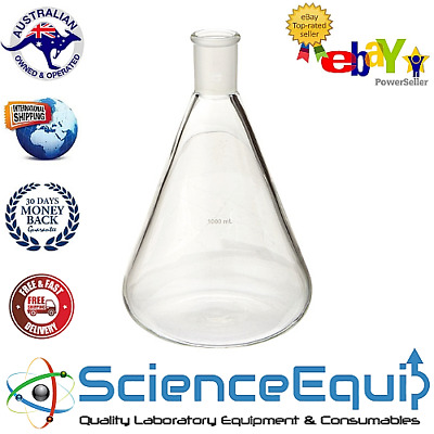 Conical Erlenmeyer Flask, Jointed, 1 or 4 Pcs/Pk BOROSILICATE GLASS
