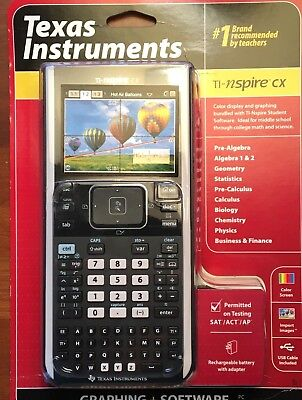 TEXAS INSTRUMENTS TI-NSPIRE CX Color Graphing Calculator - $125 00