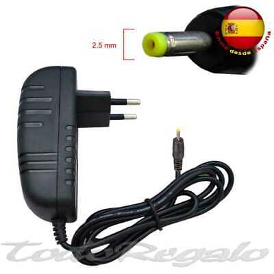 Cargador para Tablet Android PC 2.5 mm Alimentacion 5V 2A Carga Pared Enchufe