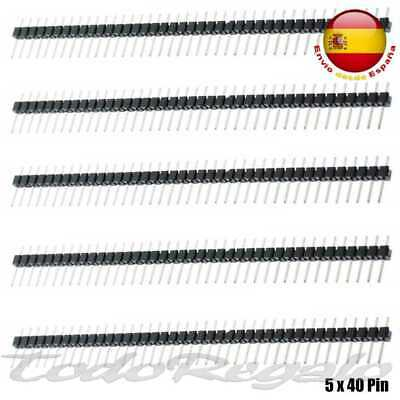 5x Tira 1x40 Pines Header Macho 2,54 mm Row para Arduino Raspberry Electronica