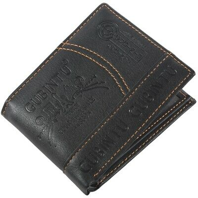 Mens Luxury Leather Bifold Wallet Credit/ID Card Receipt Holder Slim Coin P B4A8