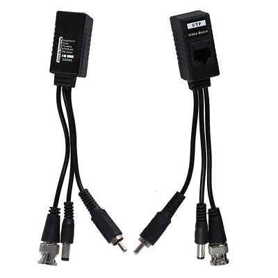1 Pair 3 in 1 Plug BNC Male to RJ45 Audio Video Power Balun Transceiver for Z4E1