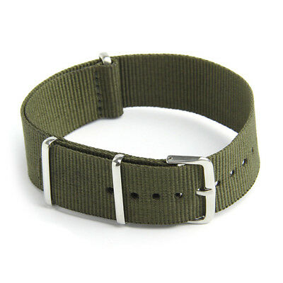 Watch Strap Band Military Army Nylon Canvas Divers G10 Mens Colour:Army Gre M7R1