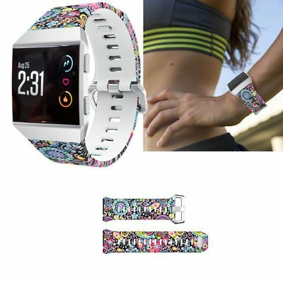 Sports Silicone Bracelet Camouflage Strap Wristband Replacement For Fitbit  P4O3