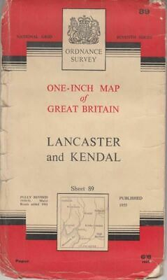 One-Inch Map of Great Britain Sheet 89 Lancaster and Kendal : ANON