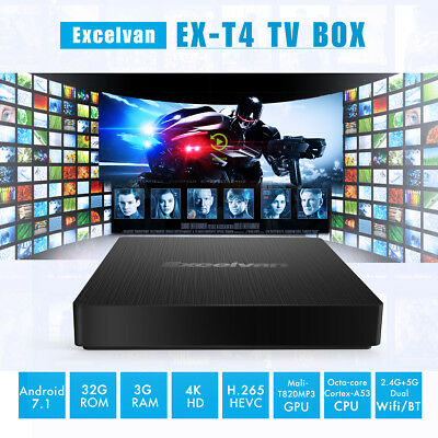 Android 7.1 Smart TV BOX S-912 Octa Core 3G+32G Dual WIFI 4K HD USB Media Player