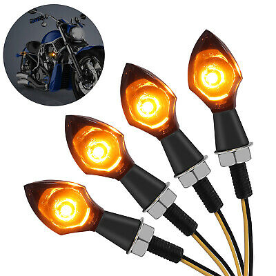 4pcs 4 LED Amber Recovery Strobe Flashing Grille Light Lightbar Beacon Lamp IN9