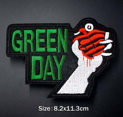 Toppa Patch Green Day Ricamata Termoadesiva Rock Star Band