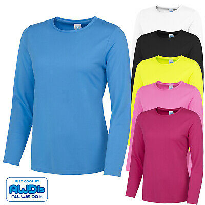 AWDis Ladies Long Sleeve Breathable Training Sports Gym Outdoor Running T-Shirt