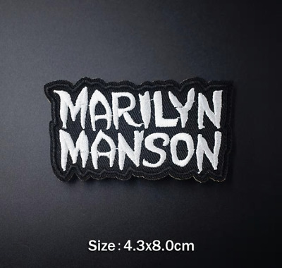 Toppa Patch Marilyn Manson Ricamata Termoadesiva Rock Star Band