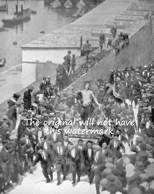 Malta Christ Resurrection Procession 1920 Antique Print 98 Years Old Mounted