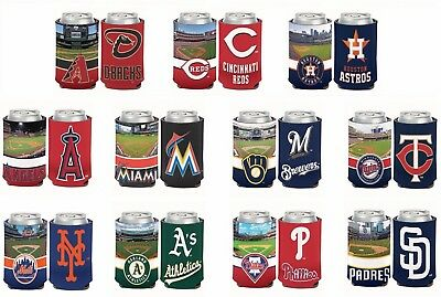 MLB Assorted Teams Stadiums Wincraft 12 oz. Can Cooler Koozie Holder NEW