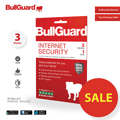 BullGuard Internet Security 2019 (3 Devices/1 Year) WINDOWS MAC ANDROID ESD